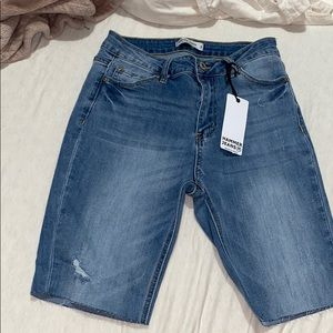 Denim burmuda shorts